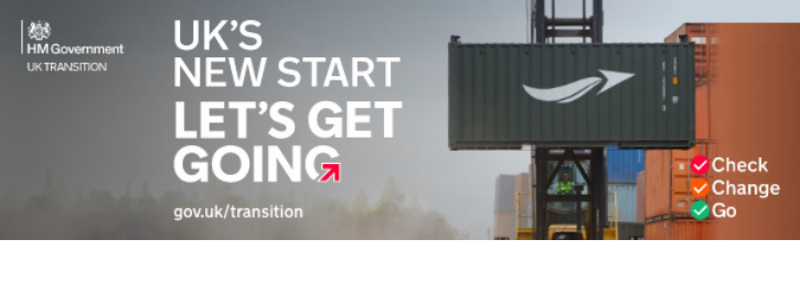 A picture of a crane with Let's Get Going branding