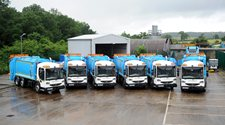 A photograph of our refuse trucks