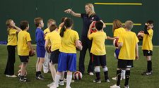 A photograph of Arsenal soccer schools