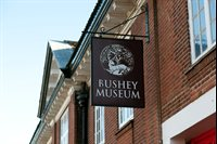 The sign for Bushey Museum