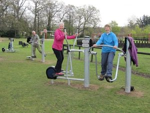 Outdoor gym in Oakmere Park