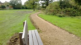 Footpath and new bench in progress