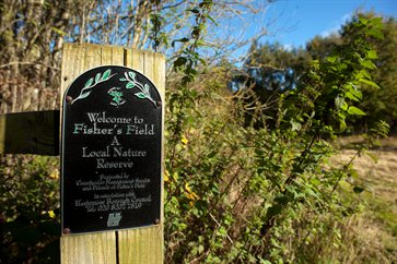 Fishers Field Nature Reserve entrance