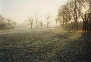 King George Recreation Ground in the frost