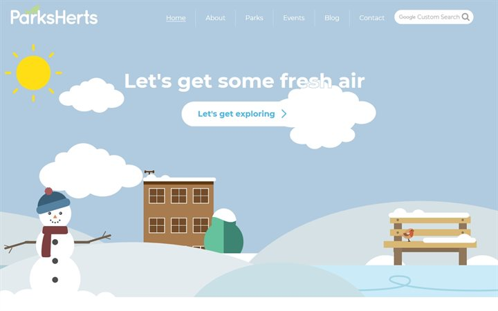 Winter homepage