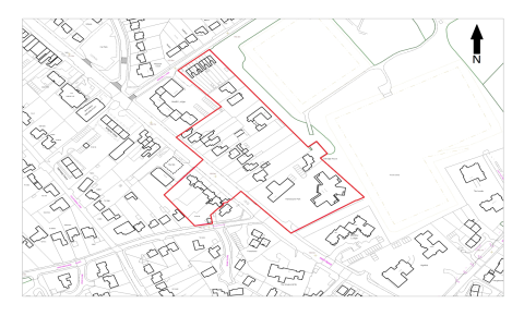 E:\Work\Beams Work\Hertsmere - Conservation Areas\High Road, Bushey Heath\Map of High Road wNorth Arrow.png