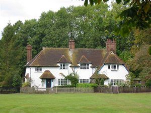 Cottages in the Conservation Area in Aldenham Village