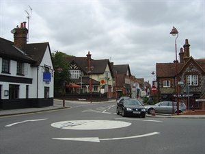 The junction of Watling Street & Shenley Hill in Radlett