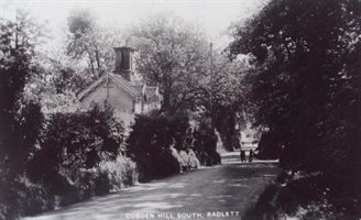 a historic view of part of the Radlett South Conservation Area