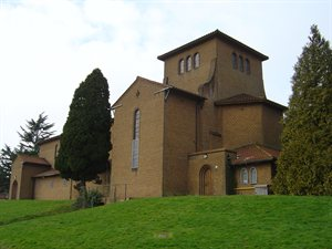 The Chapel, Porters Park Drive, Shenley (a modern yellow brick church)