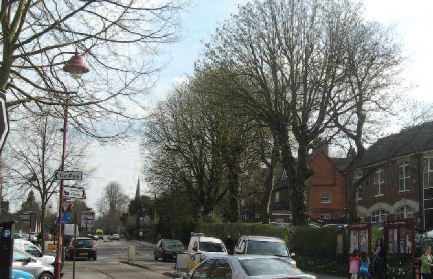 Watling Street, Radlett - trees enhance the character of Radlett town centre
