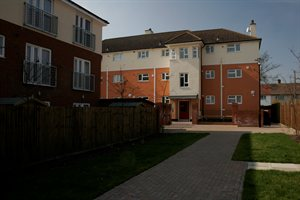 recently refurbished housing in Tempsford Avenue, Borehamwood