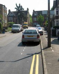 Controlled Parking Zone Bushey footway
