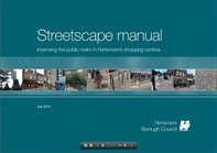 front cover of the Streetscape manual